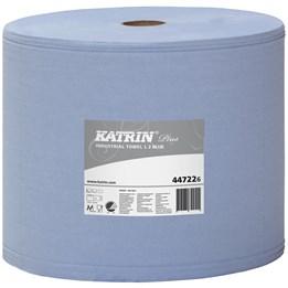 Torkrulle Katrin Industri Plus Perforerad 26cm x  350m Blå 2-Lager 2rl/fp
