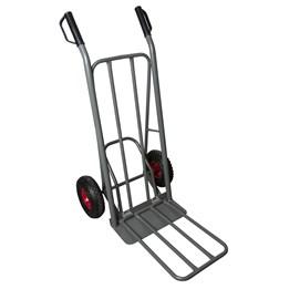 Säckkärra Grå Luftgummihjul Kapacitet 200kg Fällbar Läpp/Lastyta