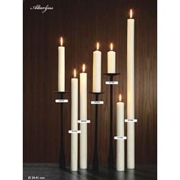Altarljus 38x500mm Vit 12st/fp