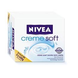 Tvål Nivea 100g Creme Soft 3st/fp