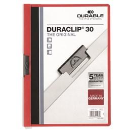 Klämmapp Duraclip A4 3mm Röd