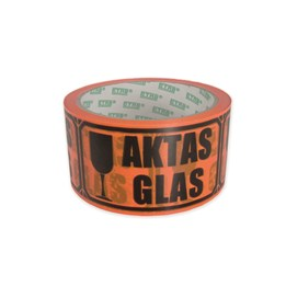 Varningstejp Orange Aktas Glas