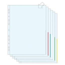 Signalficka A4 Blå 0.12mm Präglad Pp