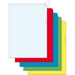 Aktmapp A4 Tr Blå 0.12mm Präglad Pp