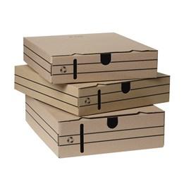 Arkivbox 8cm A4 Brun Miniwell