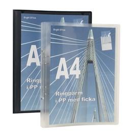 Ringpärm A4 20mm Vit Med Plastficka