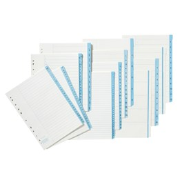 Pappersregister A4 Blå Flik