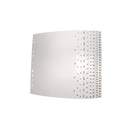 Plastregister A4 1-10 Vit/Svart