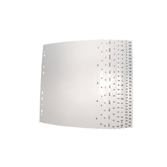 Plastregister A4 1-31 Vit Pp