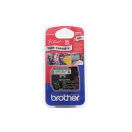 Märkband Brother M-Tape 12mm Svart/Vit
