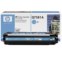 Toner HP CL3800 m.fl Cyan Q7581A