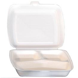 Hämtbox Skumplast 19x23x6,5cm 3-Fack 125st/fp
