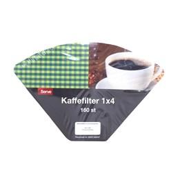 Kaffefilter 1x4 Vit 140st/fp