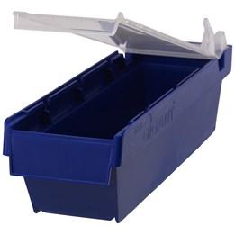 Modulback 400x115x100mm 3,4L Blå Plast Lock och avdelare säljs separat