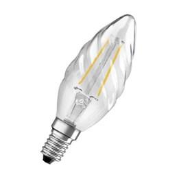 LED-Lampa Osram Retro Kron Vriden 2W E14 Klar 827