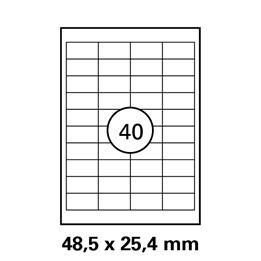 Etikett A4 48,5x25,4mm Transparent