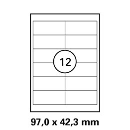 Etikett A4 97x42,3mm Transparent