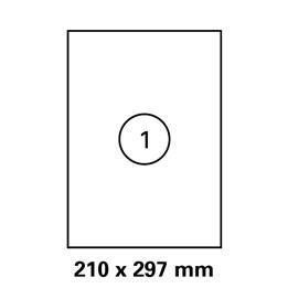 Etikett A4 210x297mm Transparent