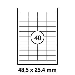 Etikett A4 48,5x25,4mm Vit