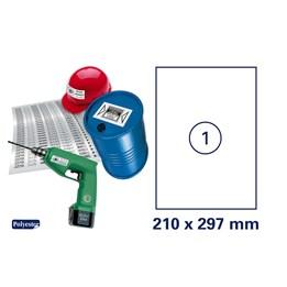 Etikett A4 210x297 Vit Polyester