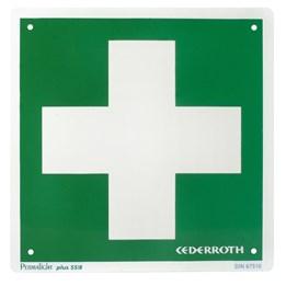 Skylt Cederroth Första Hjälpen 20x20cm