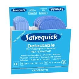 Plåster Salvequick Textil Blå Refill 6x30st/fp