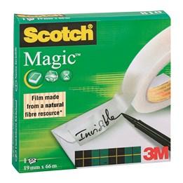 Dokumenttejp 19mm x 66m Scotch Magic Skrivbar