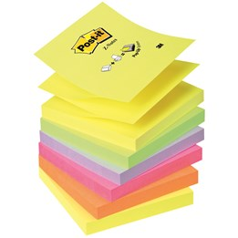 Post-It Z-Notes 76x76mm Mix Färger 6st/fp