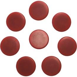 Magnet Rund 25mm Röd 7st/fp