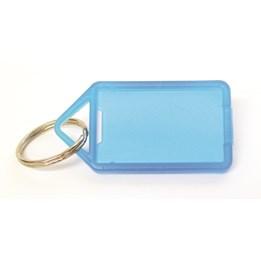 Nyckelbricka 55x30mm Plast Transparent