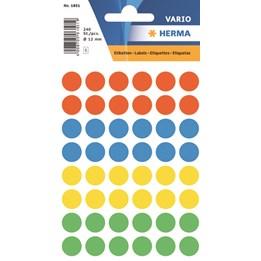 Signaletikett 12mm Blandfärg 240st/fp