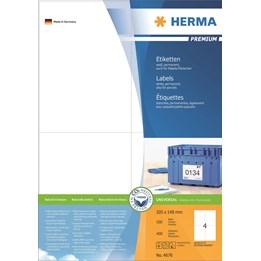 Etikett A4 105x148mm Vit 100ark/fp Herma