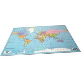Skrivunderlägg 59x39cm Världskarta