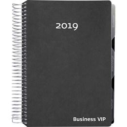 Almanacka Business Vip Svart Konstläder