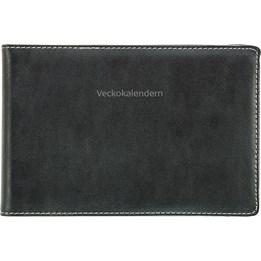 Almanacka Veckokalendern Svart 1v/Uppslag