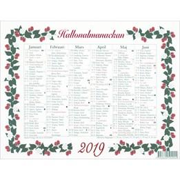 Almanacka Stora Hallon Halvår/Sida