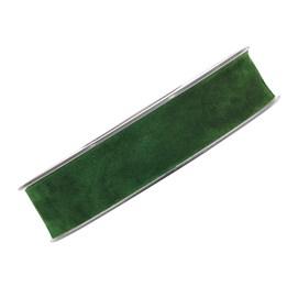 Sammetsband 25mm Mörkgrön 7m/rl