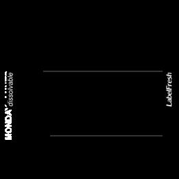 Etikett LabelFresh 70x45mm Vattenlöslig 250st/fp Motiv: Veckodagar