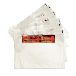 Packsedelskuvert C4 Plast Med Tryck Självhäftande