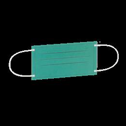 Munskydd Med Elastiskt Band Klass 2 50st/fp 3-lag näsklämma grön
