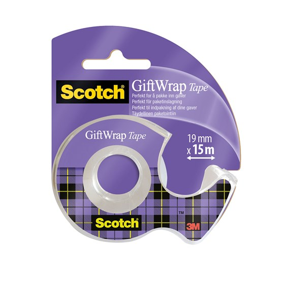 Dokumenttejp 19mm x 15m Scotch Gift Wrap