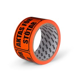 Varningstejp Etab 9602 50mm x 33m Orange Aktas för stötar