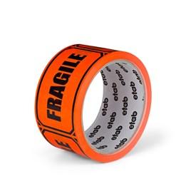 Varningstejp Etab 9605 50mm x 33m Orange Fragile