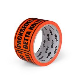 Varningstejp Etab 9607 50mm x 33m Orange Packsedel i detta kolli