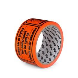 Varningstejp Etab 9610 50mm x 33m Orange Pallen får ej brytas