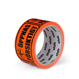 Varningstejp Etab 9613 50mm x 33m Orange Öppnas försiktigt