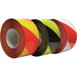 Varningsband etab 38RV 75mm x 500m Röd/vit