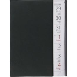 Almanacka Stor Veckokalender Svart 1v/Uppslag