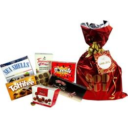 Julchoklad Presentpåse 1164g Röd
