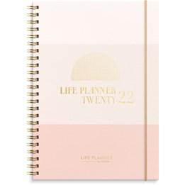 Almanacka Life Planner Rosa Horisontell FSC Mix